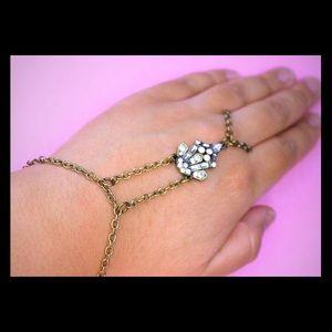 Jewelry - Crystal hand chain slave bracelet